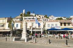 sikt för hav för greece öporos royaltyfri foto
