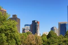 Sikt för horisont för Boston gemensam ` s av det östliga slutet för Boston ` s Arkivfoto