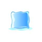 Sikt för illustration för iskub främre Royaltyfri Illustrationer