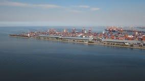 Sikt för industriell port för last flyg- manila philippines arkivfoto