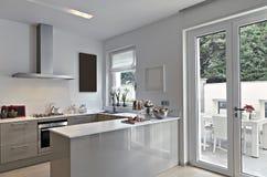 sikt för inre kök för illustration för hus 3d modern Arkivbild
