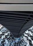 Sikt för insidan av golvet för Reichstag kupol uppifrån royaltyfri bild