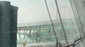 Sikt för internationell flygplats stock video