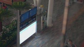 Sikt för internationell flygplats arkivfilmer