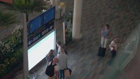 Sikt för internationell flygplats lager videofilmer