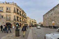 Sikt för Jerusalem gammal stadgata Royaltyfri Foto