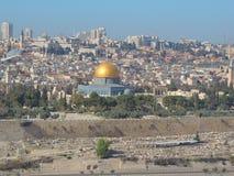 """Sikt för Jerusalem horisont†""""från Mount of Olives Arkivbild"""