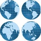 sikt för jordjordklotplanet Arkivbild