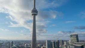 sikt för 4K Timelapse av den Toronto horisonten arkivfilmer