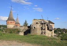 Sikt för Kamjanetsky fästningbaksida Royaltyfria Bilder