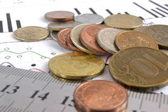 sikt för kreditering för bakgrundskortclose finansiell övre Royaltyfria Foton