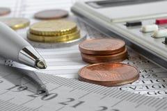 sikt för kreditering för bakgrundskortclose finansiell övre Arkivbilder
