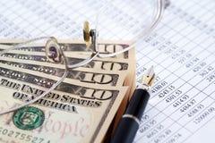 sikt för kreditering för bakgrundskortclose finansiell övre Royaltyfri Fotografi