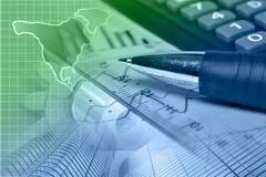 sikt för kreditering för bakgrundskortclose finansiell övre Arkivfoto