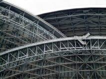 Sikt för låg vinkel av strukturen av en stadion, Toronto, Arkivbilder