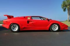 Sikt 1989 för Lamborghini Countach 25th årsdagsida royaltyfri bild