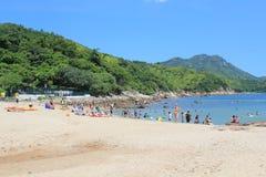 Sikt för landskap för Lamma ö i Hong Kong Royaltyfri Bild