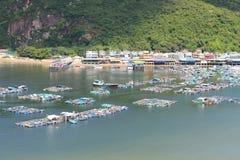 Sikt för landskap för Lamma ö i Hong Kong Arkivfoto
