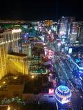 Sikt för Las Vegas remsanatt, ljus arkivfoto