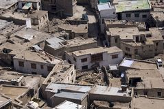sikt för leh för stadsindia ladakh Fotografering för Bildbyråer