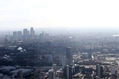 Sikt för London hamnkvarterhorisont från över Royaltyfria Foton