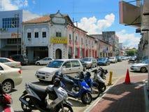 sikt för malaysia muar gatatown Fotografering för Bildbyråer