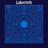 sikt för maze för labyrint 3d övre Royaltyfri Foto