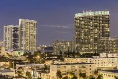 Sikt för Miami södra strandgata Royaltyfri Foto