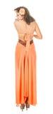 Sikt för modekvinnligbaksida Royaltyfria Bilder