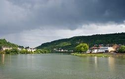 sikt för moezelmosel flod Fotografering för Bildbyråer