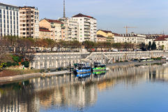 sikt för murazzipo-flod Arkivbilder