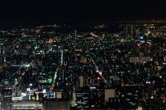 Sikt för natt för fönster för Tokyo himmelträd Royaltyfri Bild