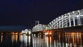 sikt för nattpetersburg st Royaltyfri Foto