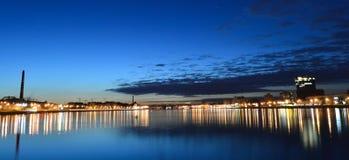 sikt för nattpetersburg st Arkivfoto