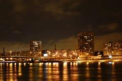 sikt för nattpetersburg st Fotografering för Bildbyråer
