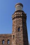 sikt för norr torn för främre lampor tvilling- Arkivfoto