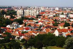 Sikt för Oradea stadsantenn Royaltyfri Foto