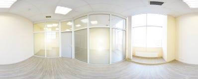 sikt för 360 panorama i den moderna tomma lägenhetinre, gradse Arkivfoto