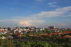 sikt för park s för beijing fågel jingshan Arkivbild