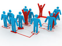 sikt för perspektiv för man för affär 3d av det organisatoriska diagrammet Arkivfoto