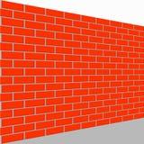 Sikt för perspektiv för väggtegelstenvektor stock illustrationer