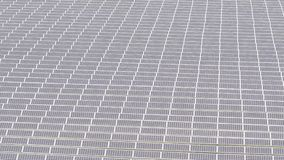 Sikt för Photovoltaic system för solpaneler flyg- arkivfilmer