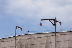 sikt för plats för flyg- byggnad för aktivitet industriell ny residental lokal för konstruktionskranhus Royaltyfri Fotografi