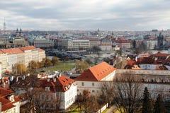 Sikt för Prague Europa loppturism Arkivbild