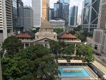 Sikt för prins Building i Hong Kong Arkivbild