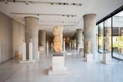 sikt för rätsida för acropolisathens museum royaltyfria bilder