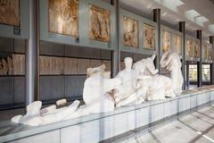sikt för rätsida för acropolisathens museum arkivbilder