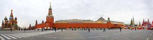 sikt för röd fyrkant för moscow panorama Arkivbilder