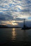 sikt för serie för hamnlogistik romantisk Royaltyfria Foton