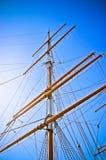 sikt för ship för masts s uppåtriktad Arkivbilder